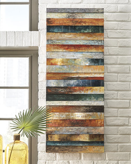 Curved Panel Contemporary Hand Painted Wall Décor