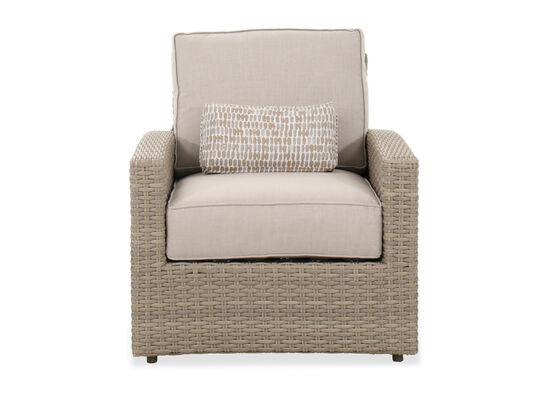 Contemporary Patio Club Chair in Light Gray