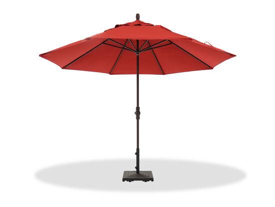 Casual Collar Tilt Umbrella in Brown/Red