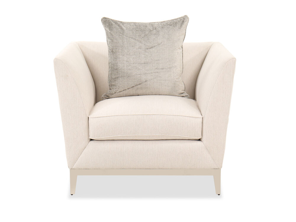 """Contemporary 40"""" Chair in Beige"""