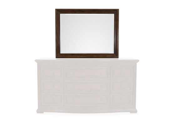 Traditional Rectangular Mirror in Oak