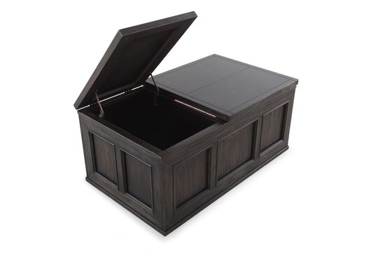 Lift-Top Casual Cocktail Table in Black