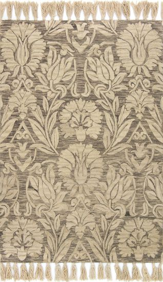 """Traditional 2'-3""""x3'-9"""" Rug in Silver"""