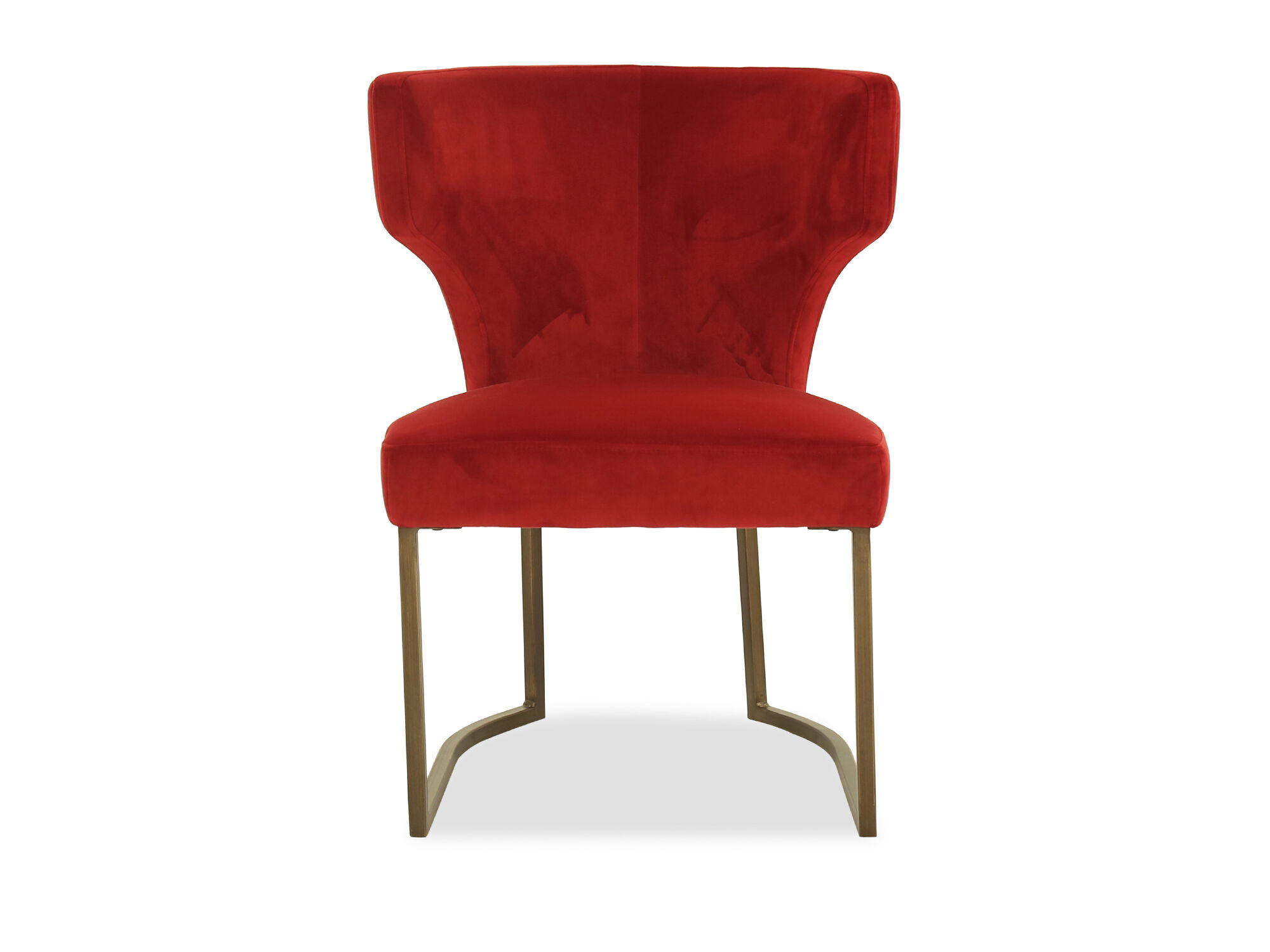 Wingback Velvet 24u0026#39;u0026#39; Accent Chair In Red ...