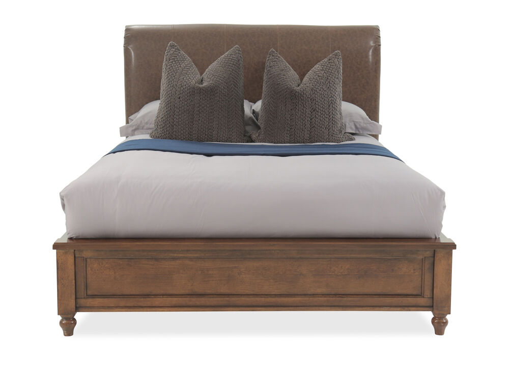 Distressed Contemporary Youth Platform Bed in Cherry