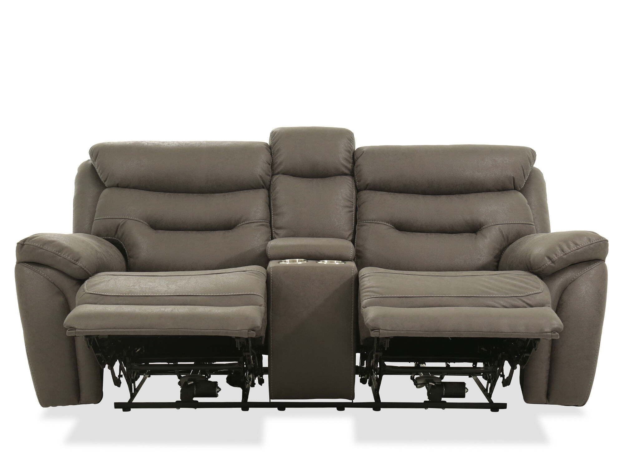 Power reclining casual 82 loveseat in gray mathis brothers furniture