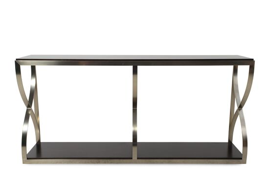 Serpentine Curves Metropolitan Console Table in Dark Sable