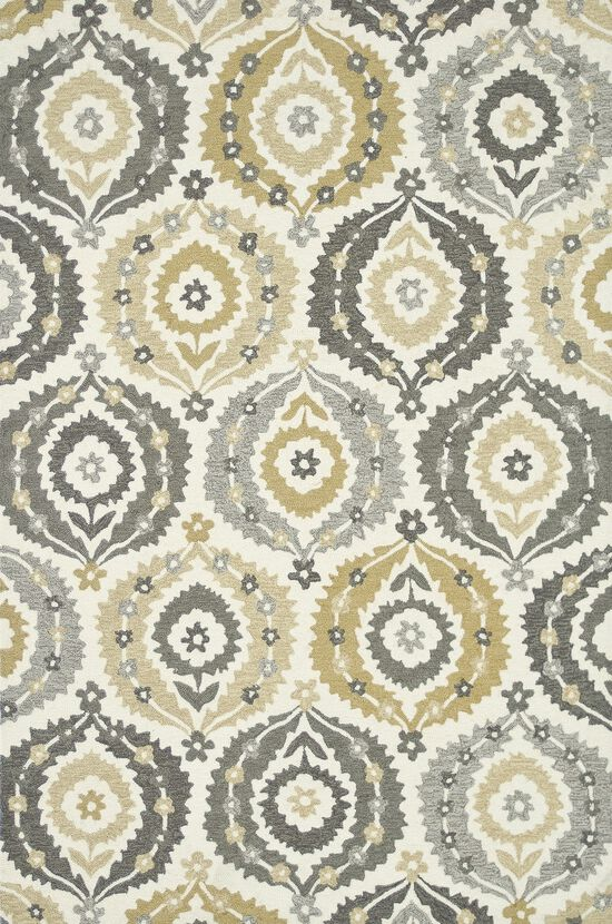 """Transitional 5'-0""""x7'-6"""" Rug in Ivory/Graphite"""