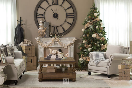 """Nailhead-Accented 92.5"""" Rolled Arm Sofa in Gray"""