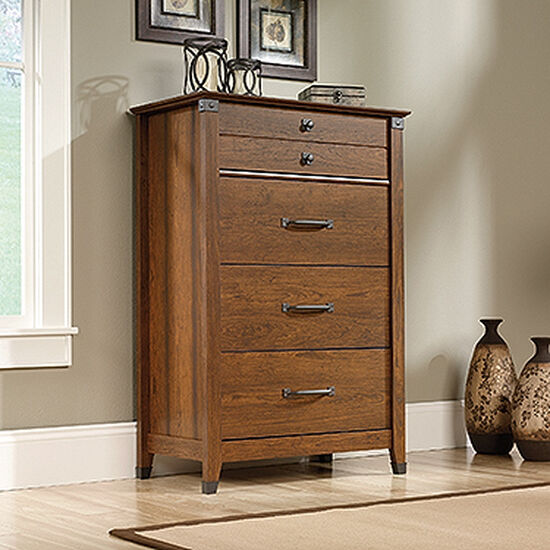 """48"""" Traditional Four-Drawer Chest in Washington Cherry"""
