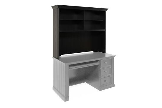 Four-Shelf Casual Youth Desk Hutch in Matte Ebony
