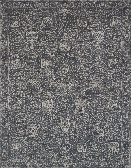 """Transitional 2'-3""""x4'-0"""" Rug in Charcoal/Charcoal"""