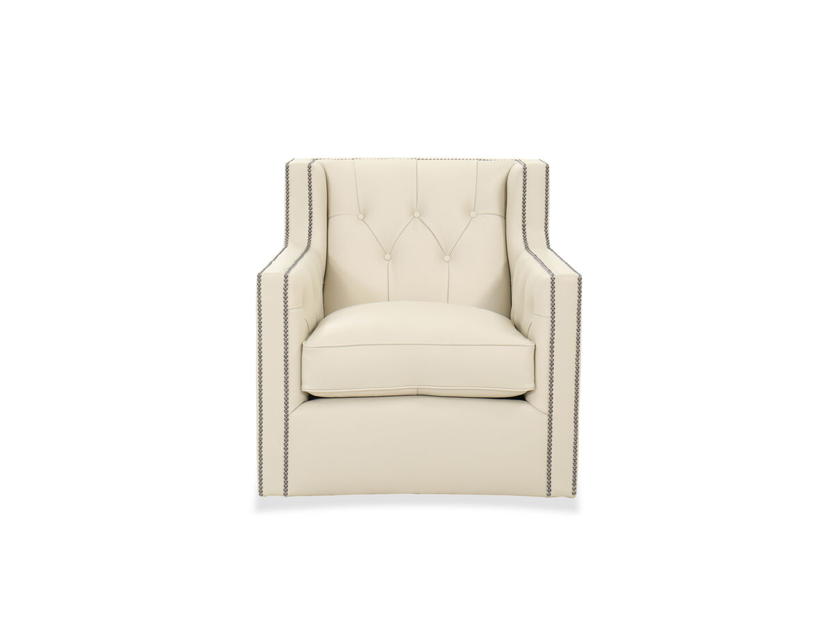 A lovely fusion of looks and comfort this leather chair gives a complete makeover to your living room furniture setting