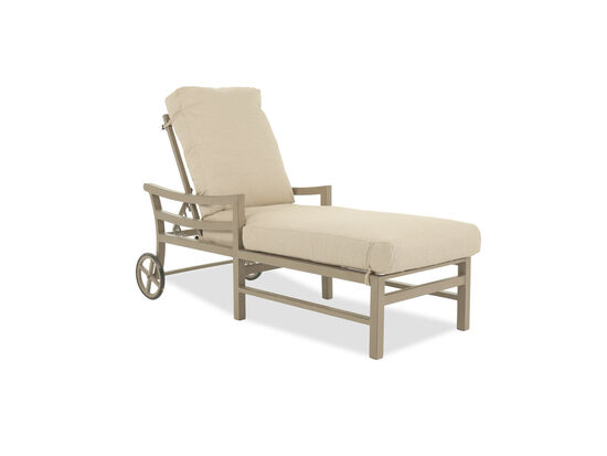 Casual Chaise Loungein Beige