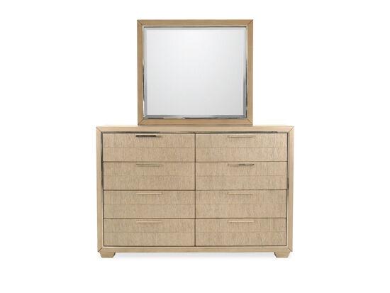 Two-Piece Transitional Eight-Drawer Dresser & Mirror in Brown