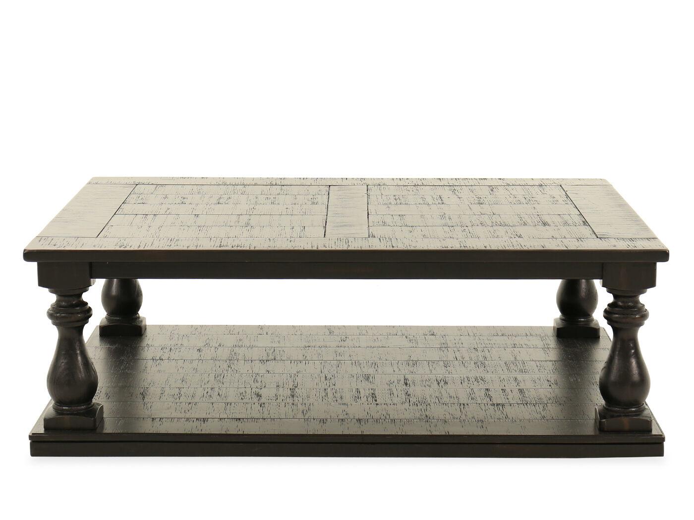 Plank top rectangular casual cocktail tablenbsp
