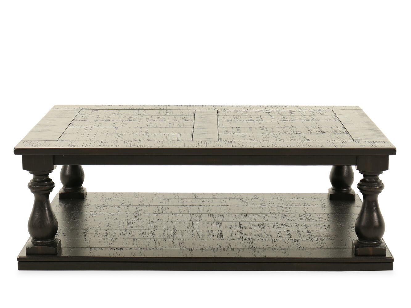 Plank Top Rectangular Casual Cocktail Table Nbsp