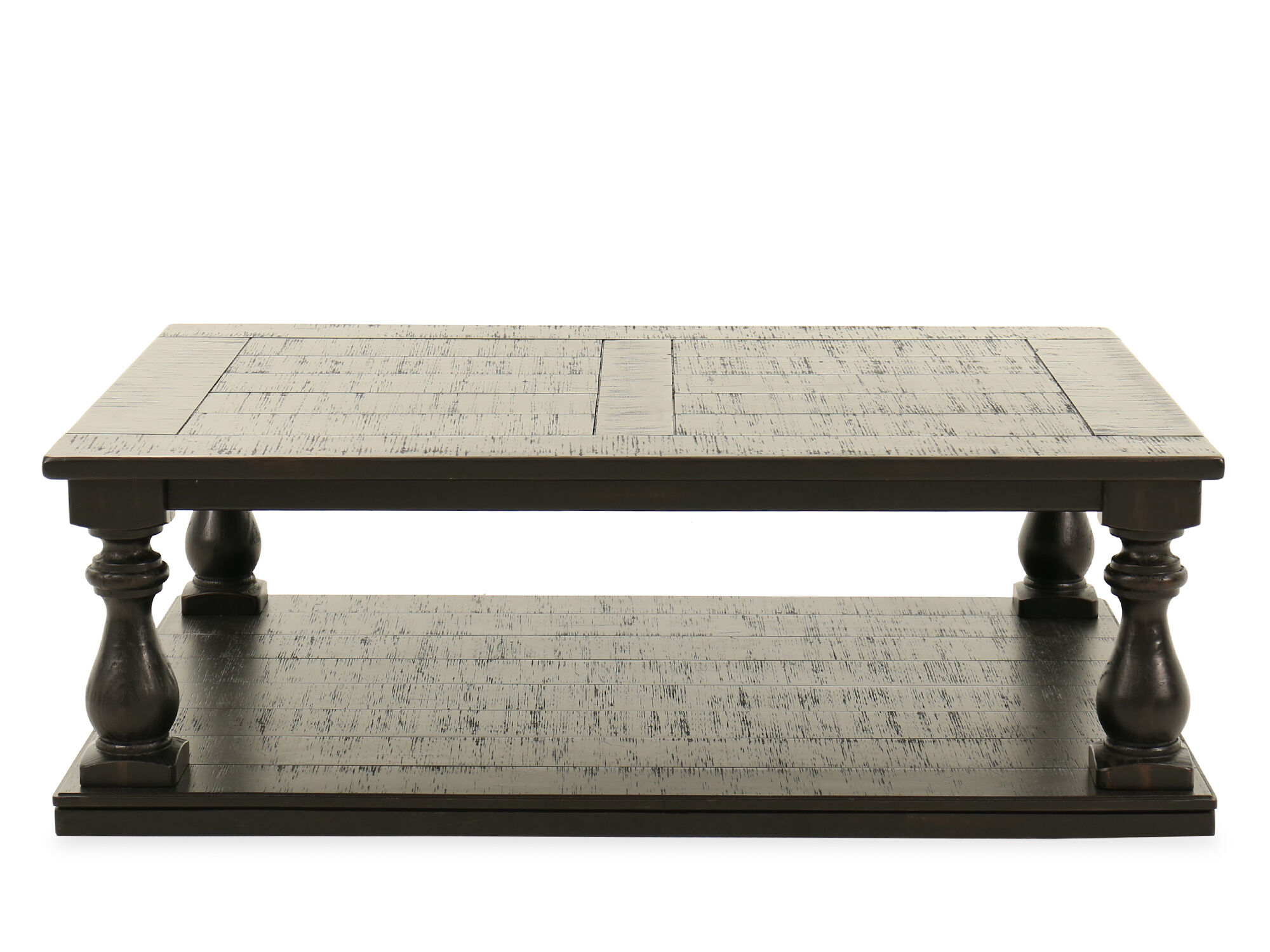 Plank Top Rectangular Casual Cocktail Tableu0026nbsp;in Black ...