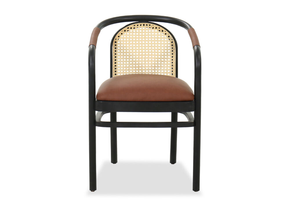 23 Mid Century Modern Armchair In Charcoal Brown Mathis Brothers Furniture
