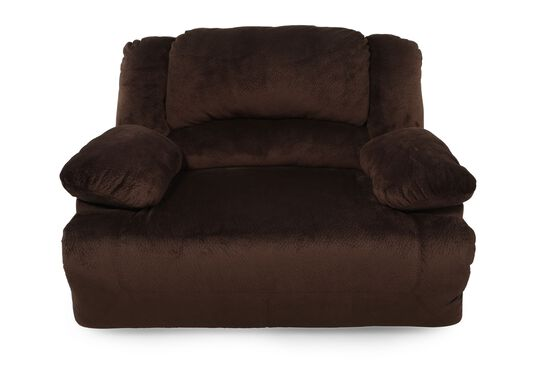 "Contemporary 59"" Wall Recliner in Chocolate Brown"