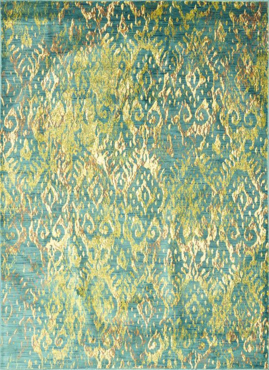 "Contemporary 5'-2""x7'-7"" Rug in Lagoon"