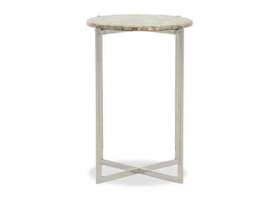 X-Base Modern Accent Table in Silver
