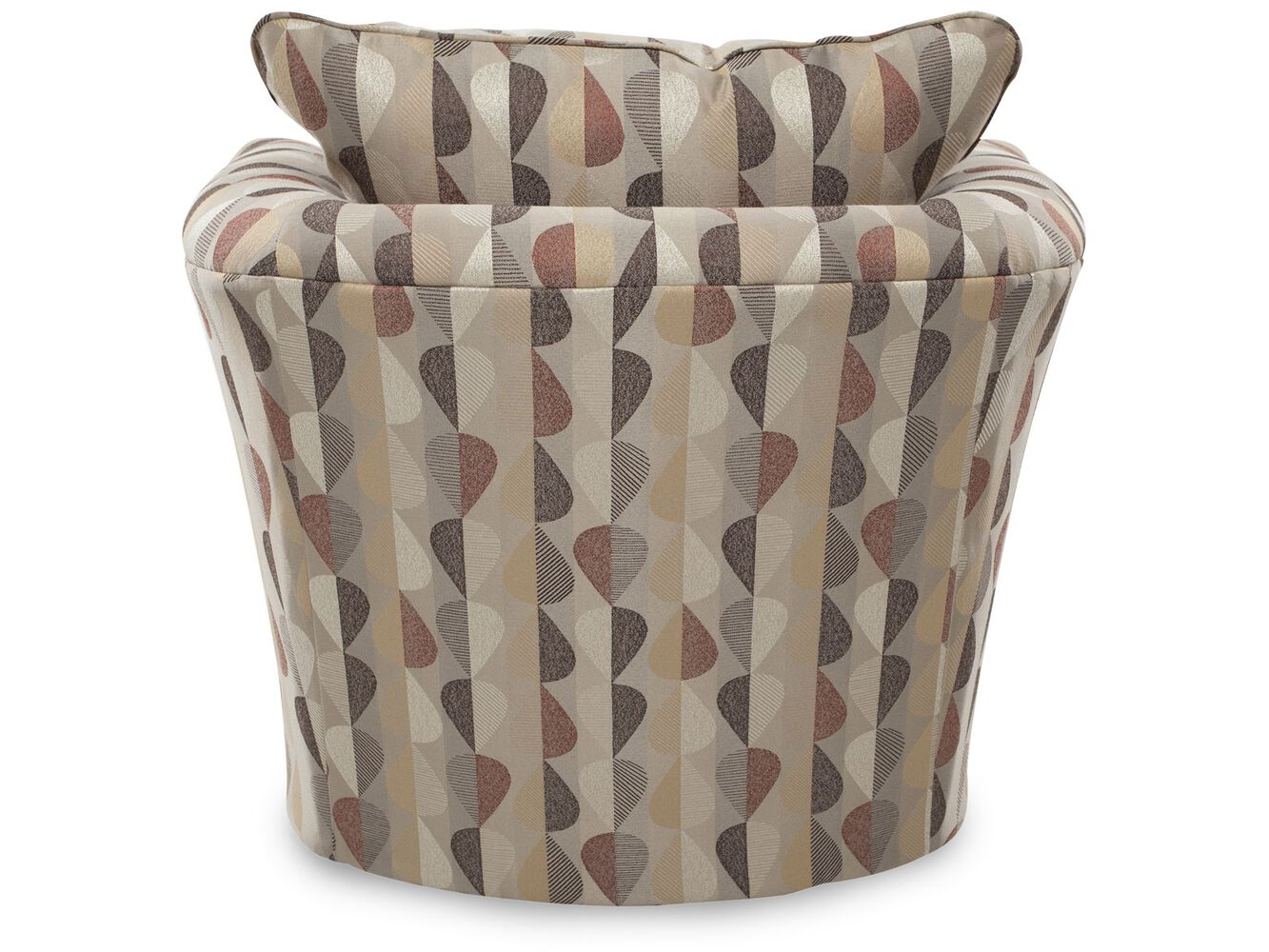 Patterned Contemporary Swivel Chair | Mathis Brothers Furniture