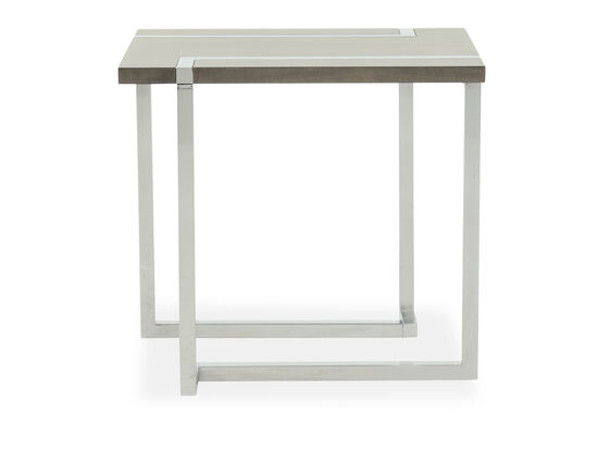 L-Base Transitional End Table in Charcoal