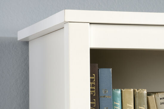 Two-Door Traditional Library in Soft White