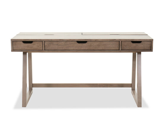 Casual Lift Lid Youth Desk in Brown