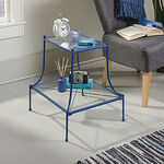 Two-Tier Contemporary Side Table in Blue