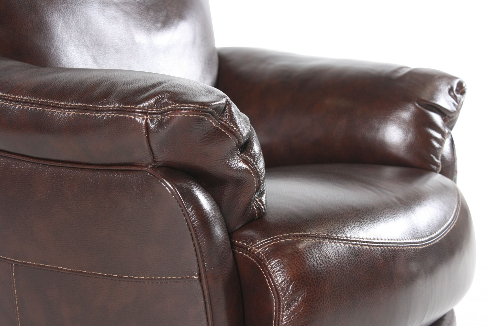 Casual Leather 37 Quot Swivel Chair In Coffee Mathis