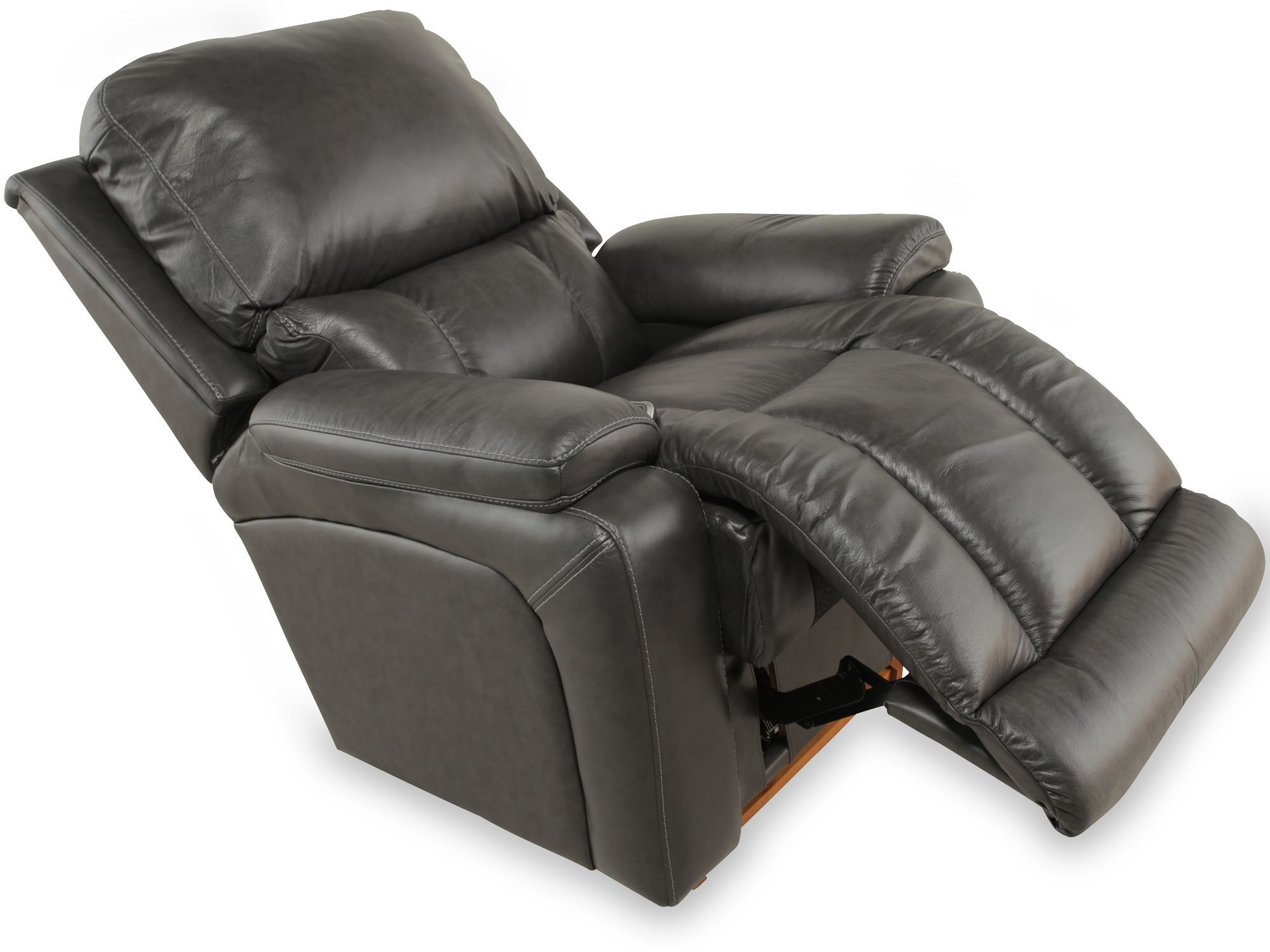 ... Traditional Leather 37.5u0026quot; Power Recliner ...