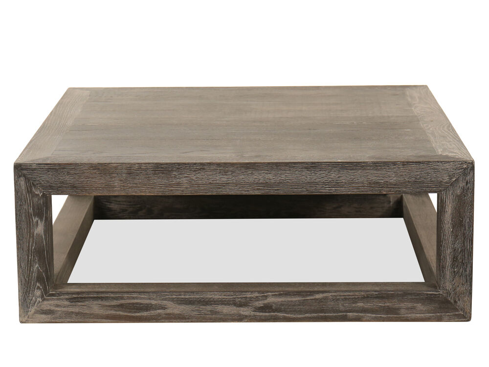 Square Cocktail Table In Gray Mathis Brothers Furniture
