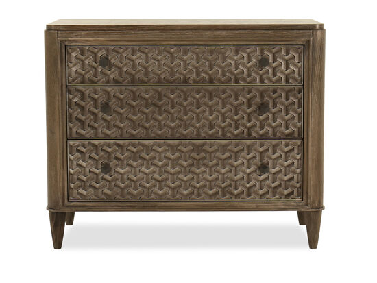 "32"" Geometric Embossed Casual Bachelor's Chest in Warm Kona"