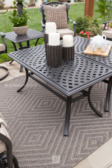 Casual Patio Coffee Table in Brown