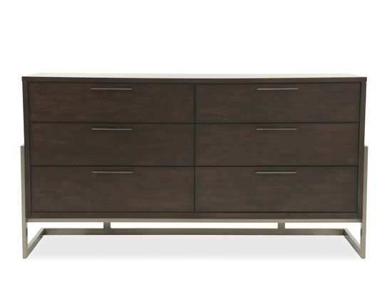 "19"" Traditional Six-Drawer Dresser in Espresso"