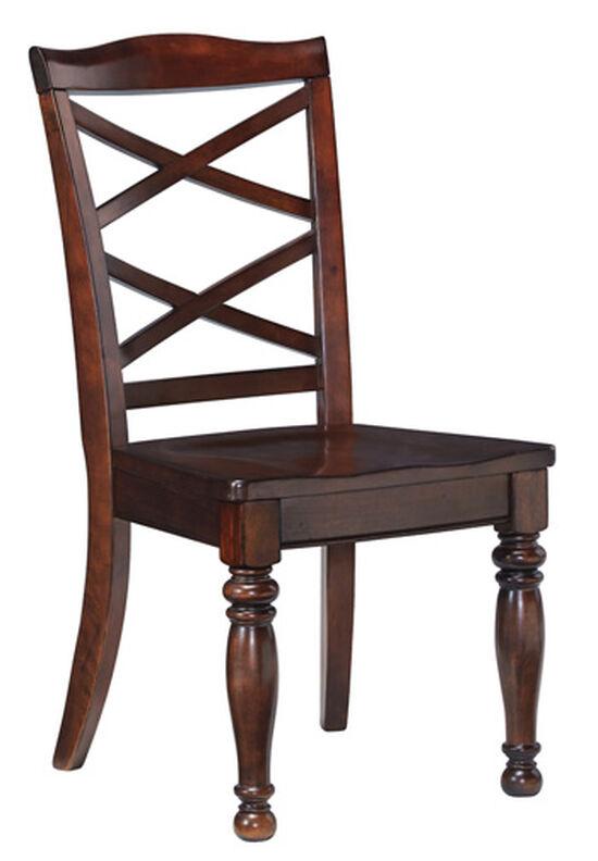 "X-Back 20"" Side Dining Room Chairin Dark Brown"