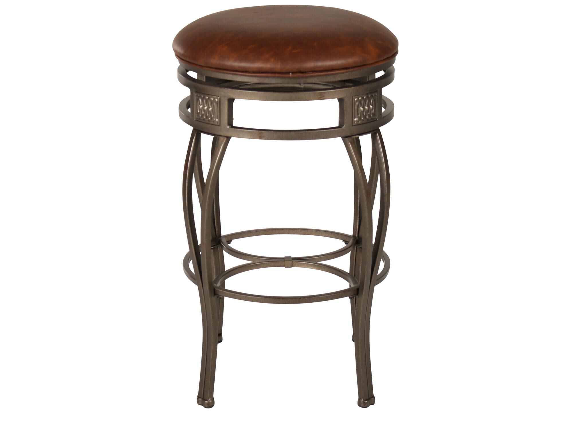 Traditional 30 Swivel Bar Stool In Old Steel Mathis Brothers