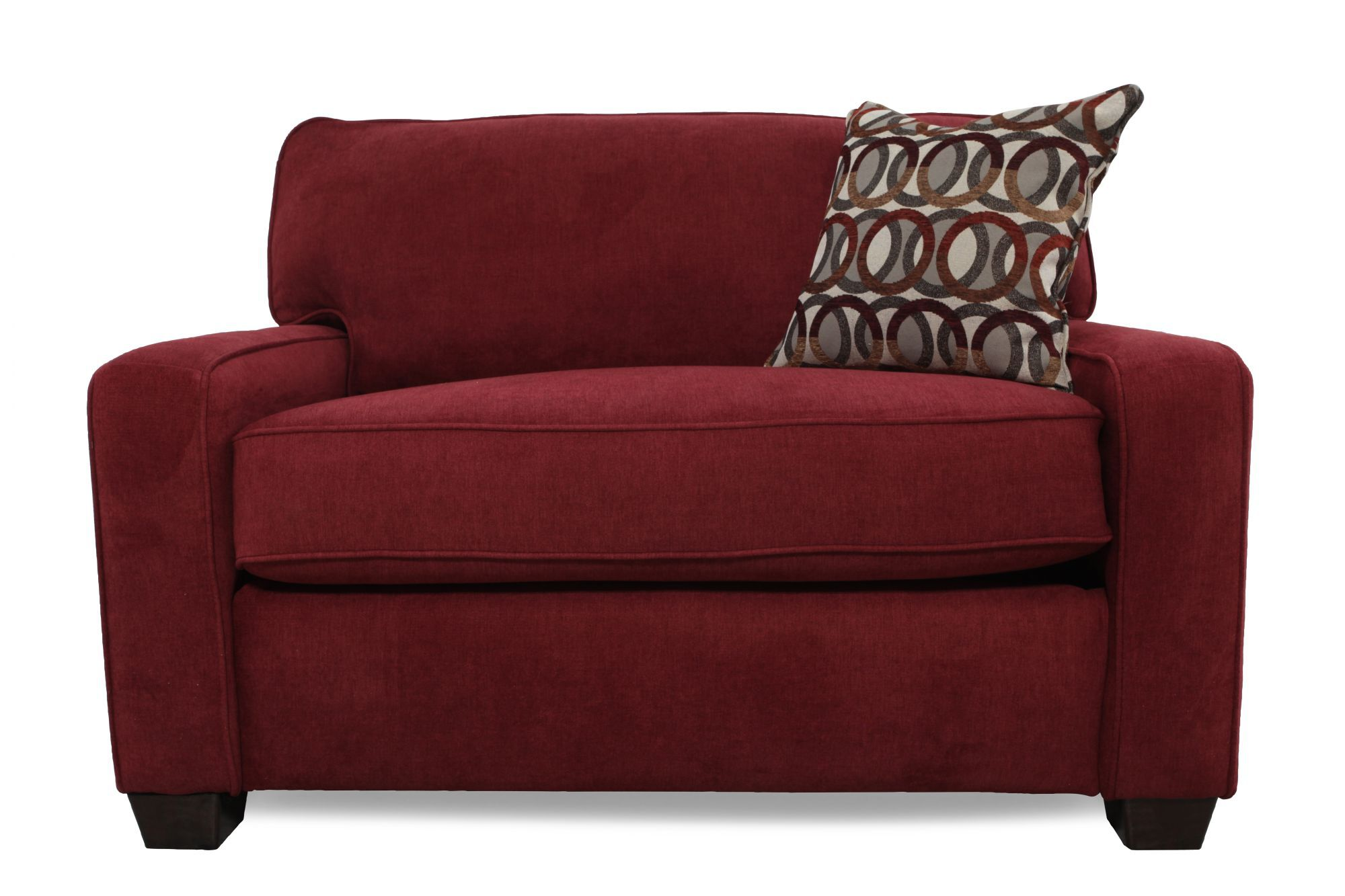 I Rest Casual 54 Sleeper Chair In Berry Mathis Brothers Furniture