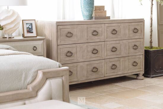 "38"" Traditional Six-Drawer Dresser in Sandstone"