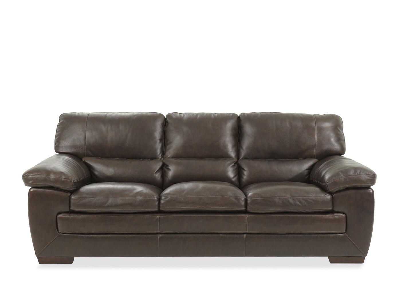 87 leather sofa in dark