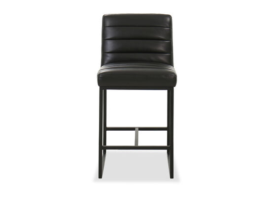 Quilted Casual Counter Stool in Black
