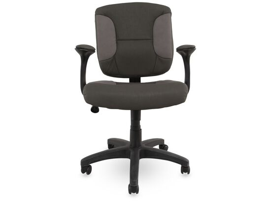 Height Adjustable Swivel Base Task Chair in Gray