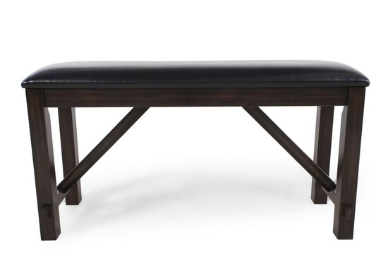 "48"" Traditional Bench in Dark Brown"