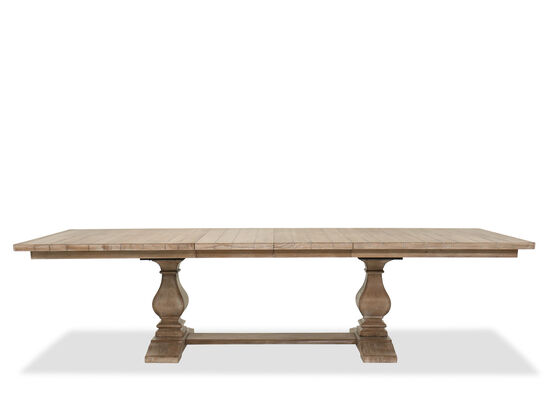 """84"""" to 120"""" Rectangular Trestle Dining Table in Cypress"""