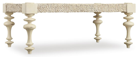 Sandcastle Rectangle Cocktail Table in Cream