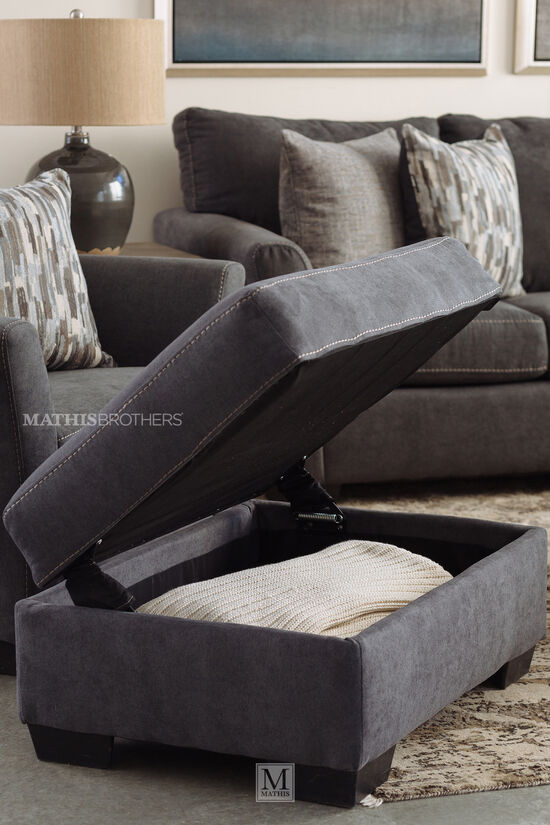 "36"" Transitional Ottoman in Gray"
