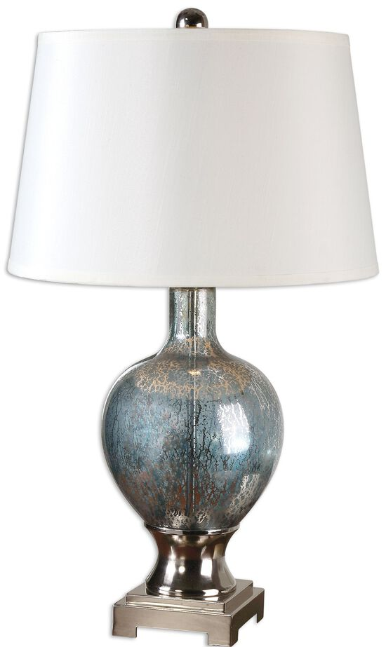 Tapered Shade Mercury Glass Jar Lamp