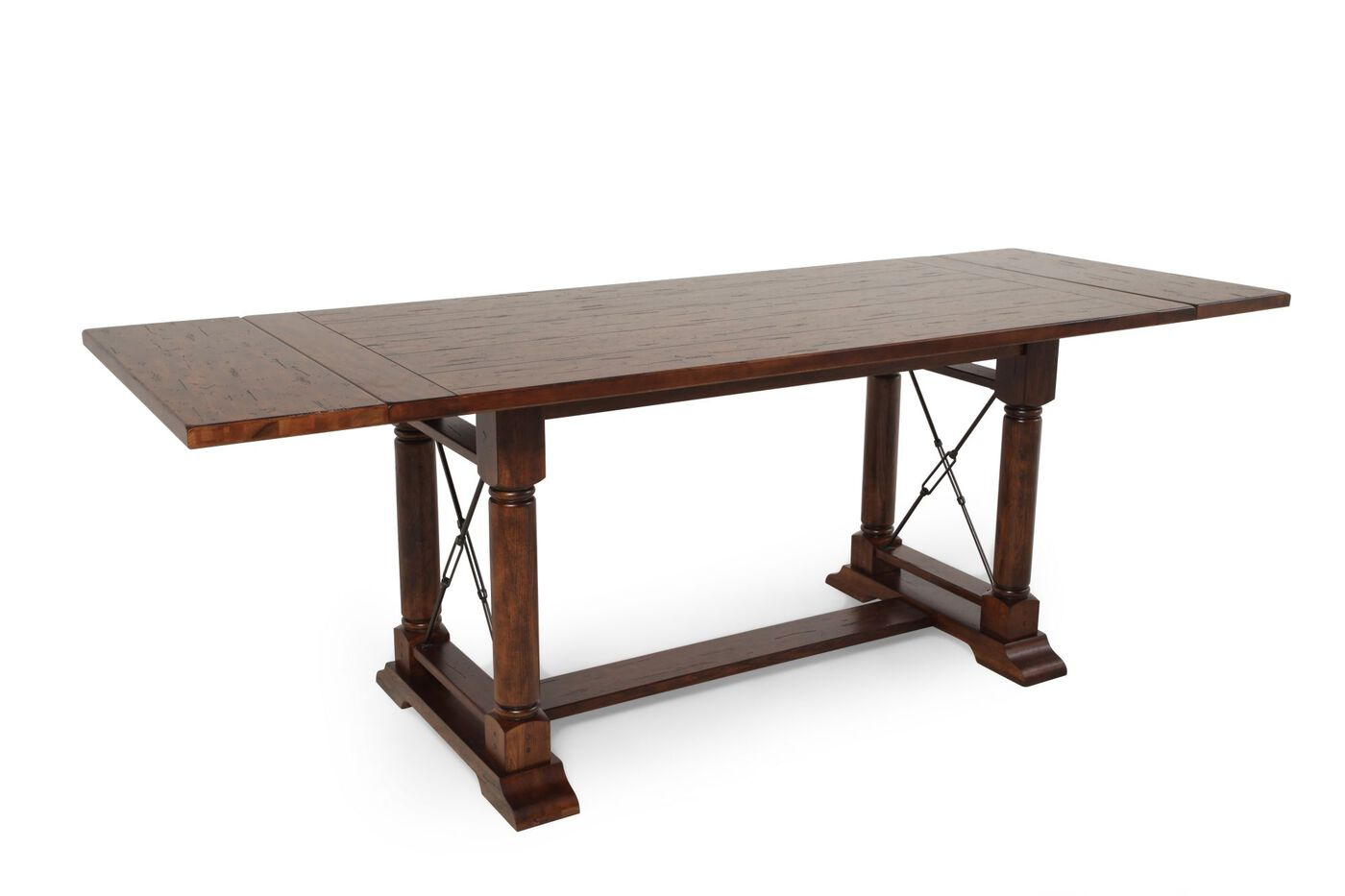 Casual 78 Quot To 104 Quot Solid Oak Counter Table In Rustic Oak
